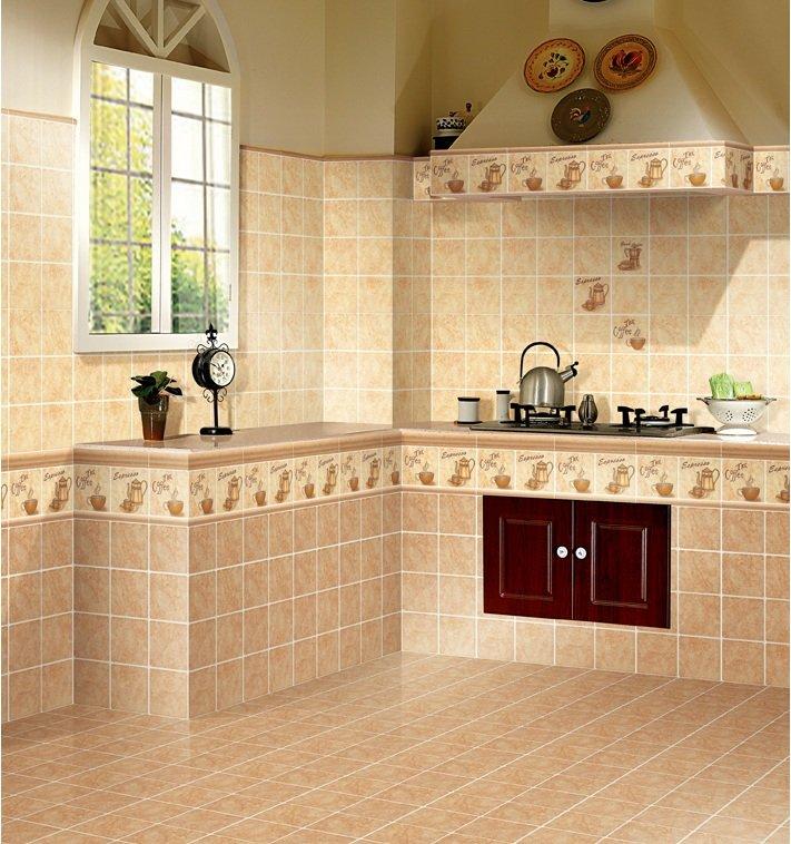 厨房瓷砖选好了,是汇亚的提香仿古系列,这砖其实不是哑光图片