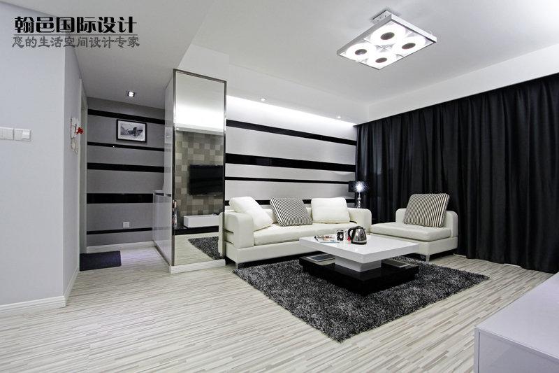 客厅装修效果图黑白色