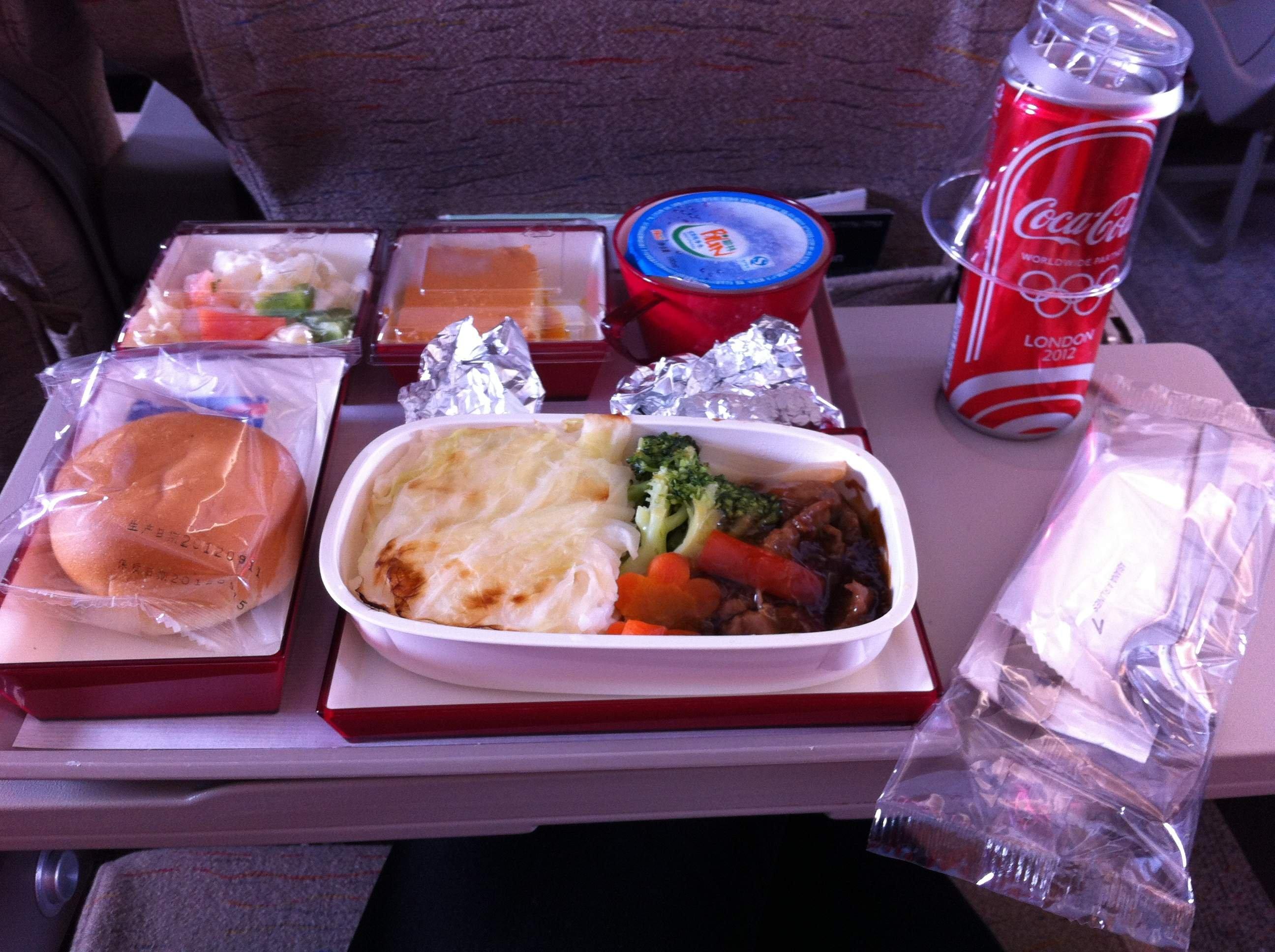 韩亚航空的飞机餐,还不错