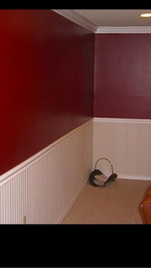 雪梨你床头护墙板做帽子嘛?类似这种,更符合美式风图片