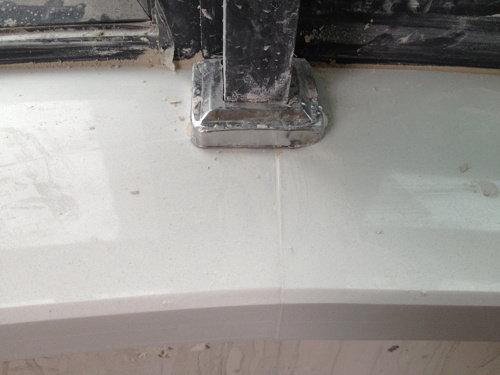 圆形台面细节(石材拼接的缝隙)