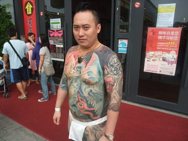 我们去的那几天正好香蕉码头在举办国际纹身艺术展.