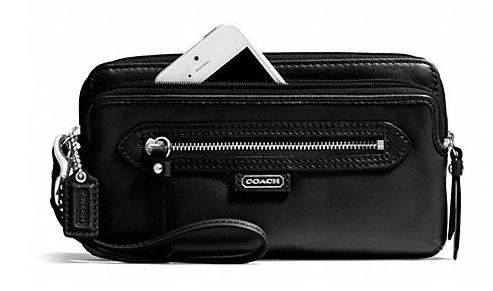 coach wristlet outlet store online  wallets-wristlets/leg-wk-tckng-zippy-sv-khk-1