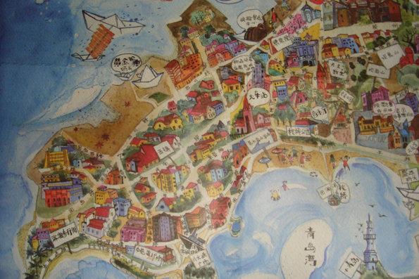 青岛手绘地图下载
