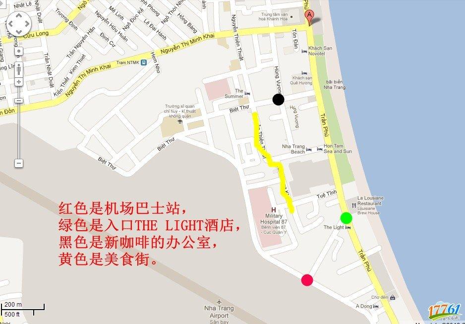 越南芽庄中文地图