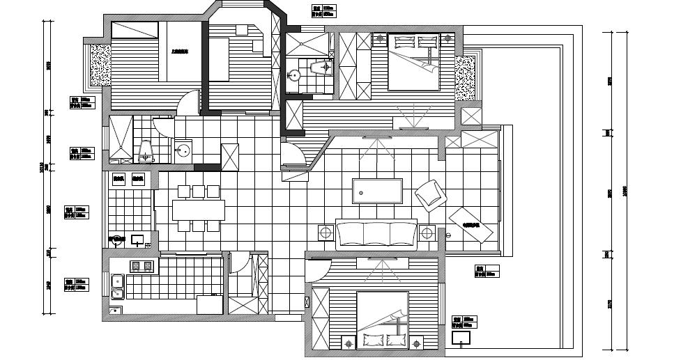 承重结构建筑蓝图
