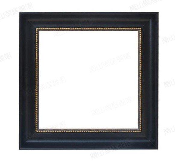 画框选的黑色带金边的