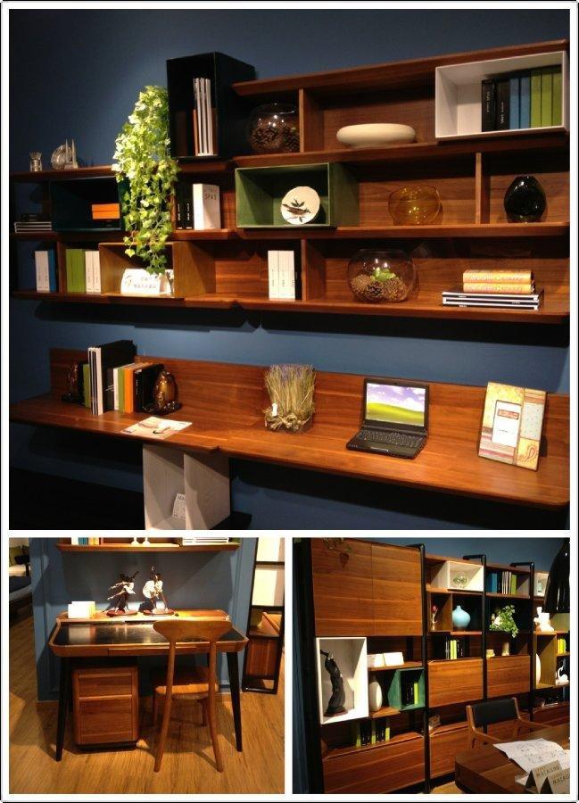风格非常灵动,很喜欢.在考虑把这个订在墙上的书桌和书架放在主卧