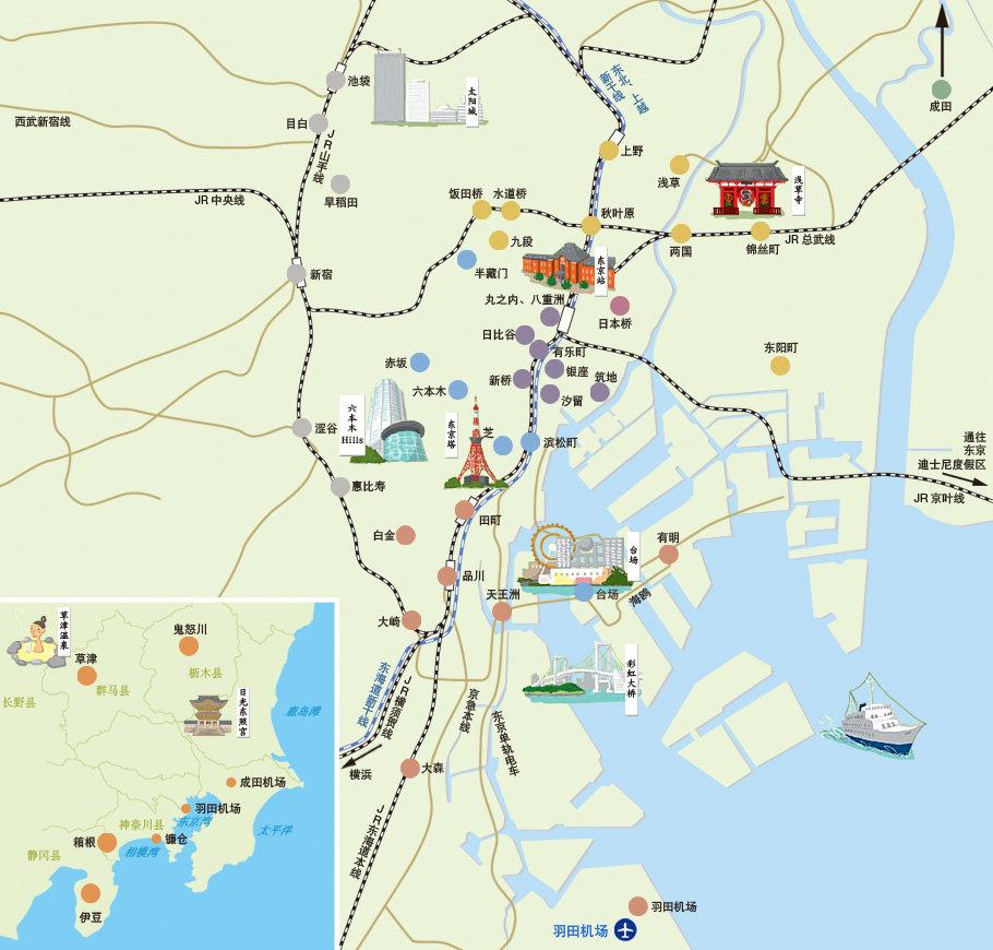 东京景点地图