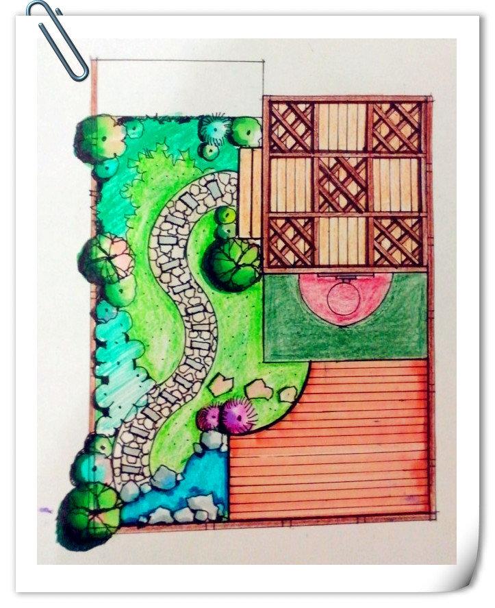 效果图 花园洋房/方案彩平~~~有了之前的动画和效果图,这张简单的彩平估计...