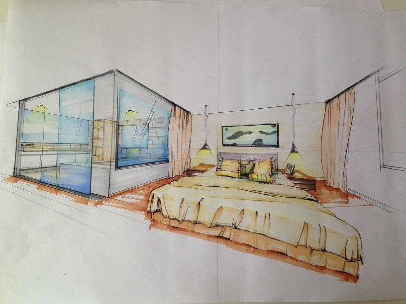 家具组合手绘图床