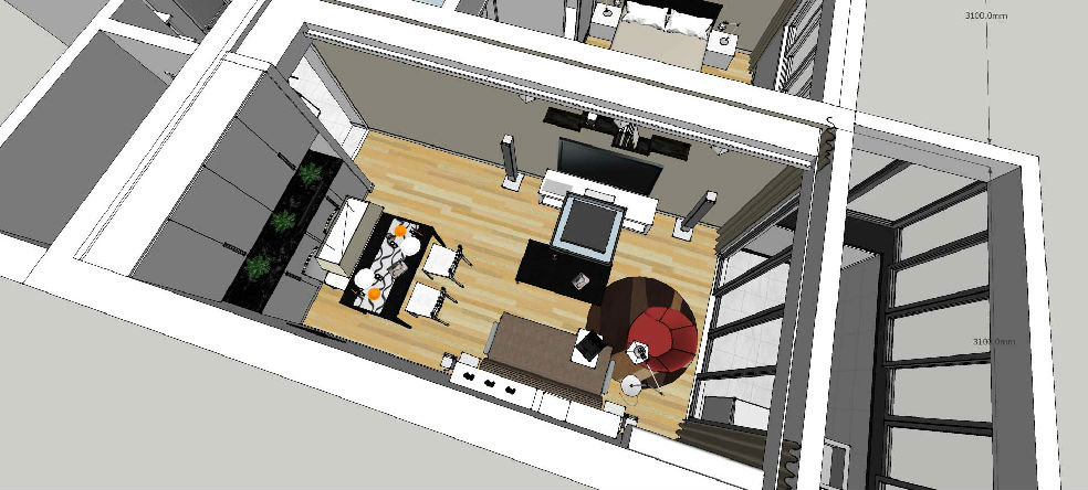客厅效果 8米层高客厅效果图 家装图片 装修效果图-客厅隔断博物架效高清图片