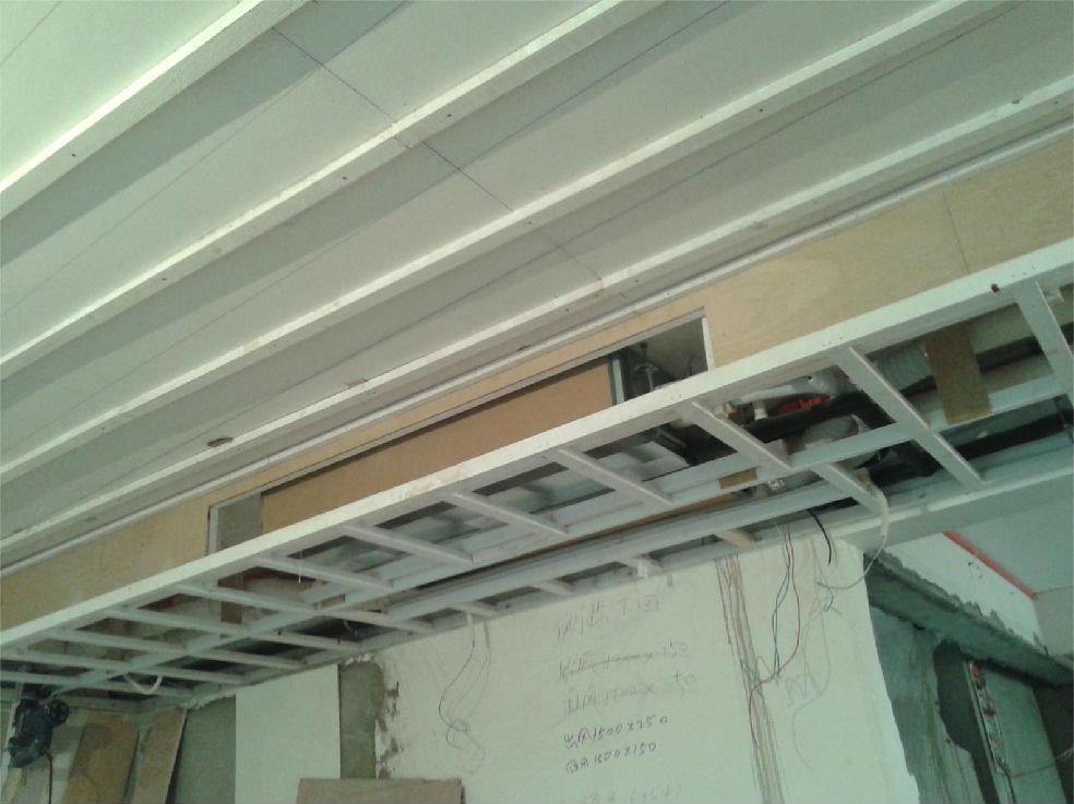 木工:吊顶封石膏板