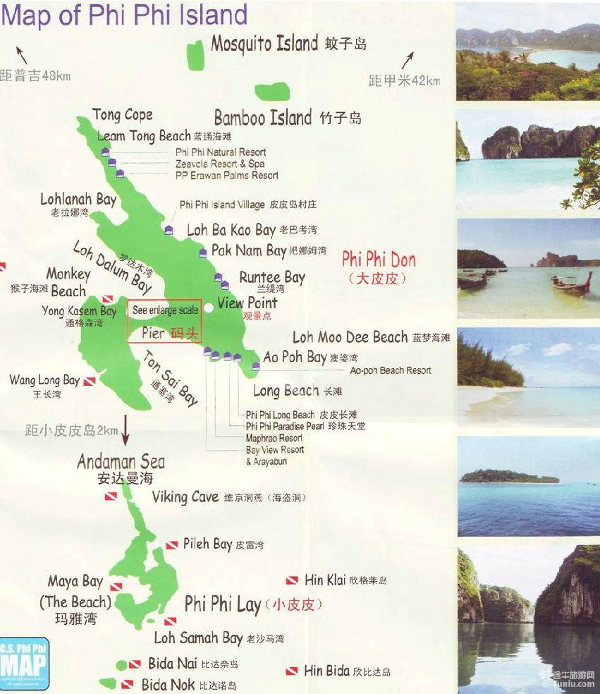 泰国普吉岛分布图