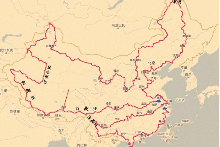 环中国行路线图-一家四口 青奥家庭 自驾环中国行 环欧亚北极行