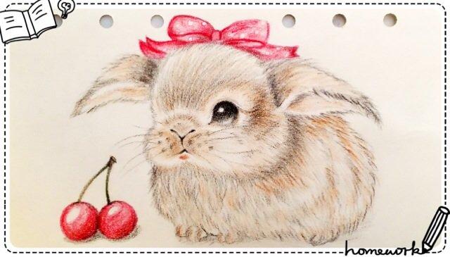素描动物彩铅画图片