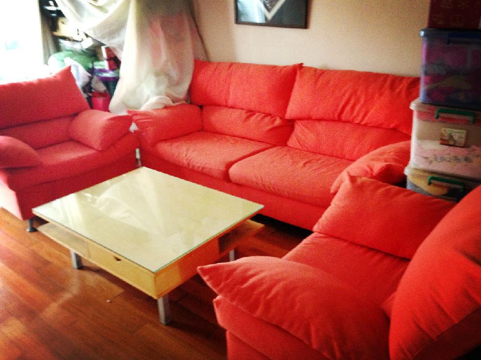 附贈新沙發套!900元客廳組合沙發!一大兩小!