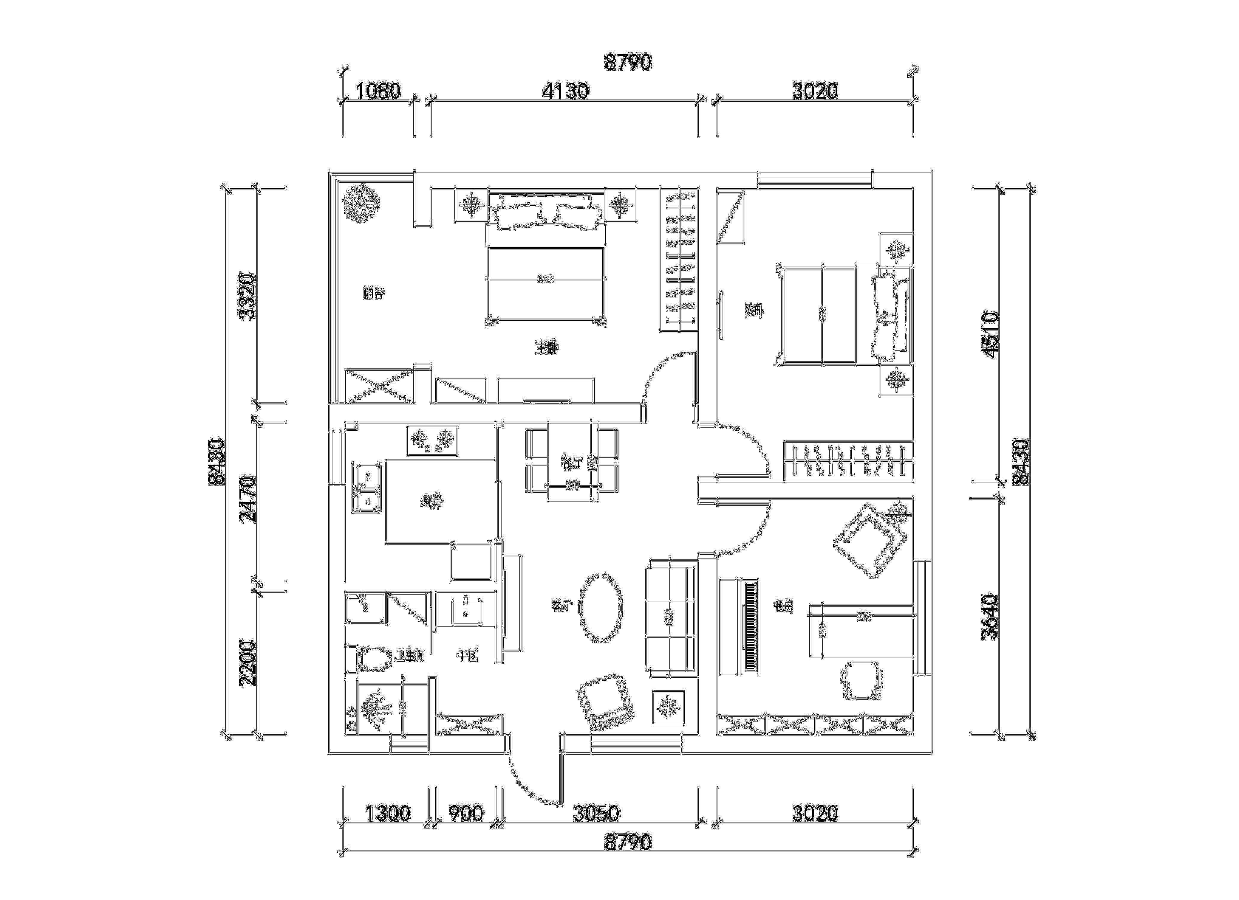 楼房三室一厅设计图纸展示