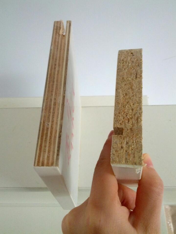 左:tata木门板材切面