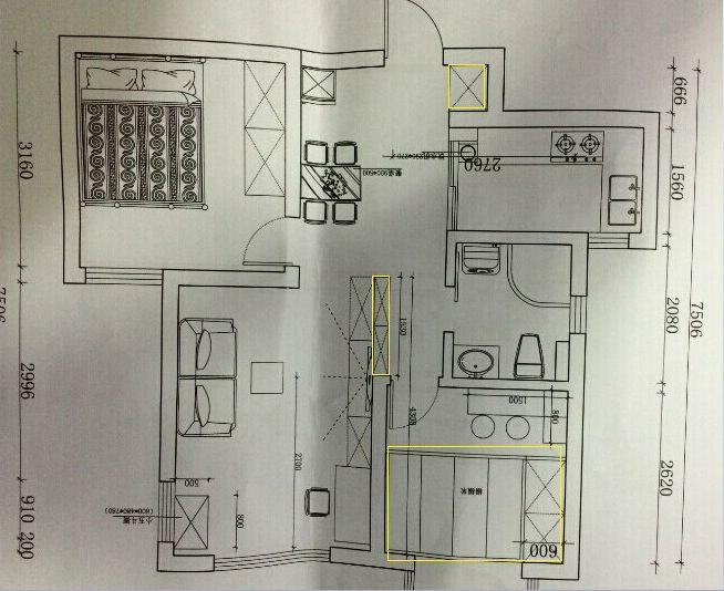 房间内上下床的设计图展示图片