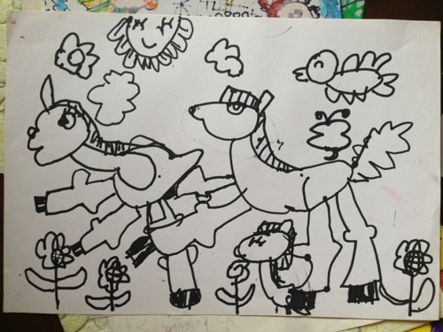 一家人画画图片大全素描