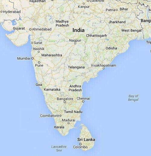 自己PS了一张斯里兰卡中文地图,不知道放上来看不看得清晰.-斯图片