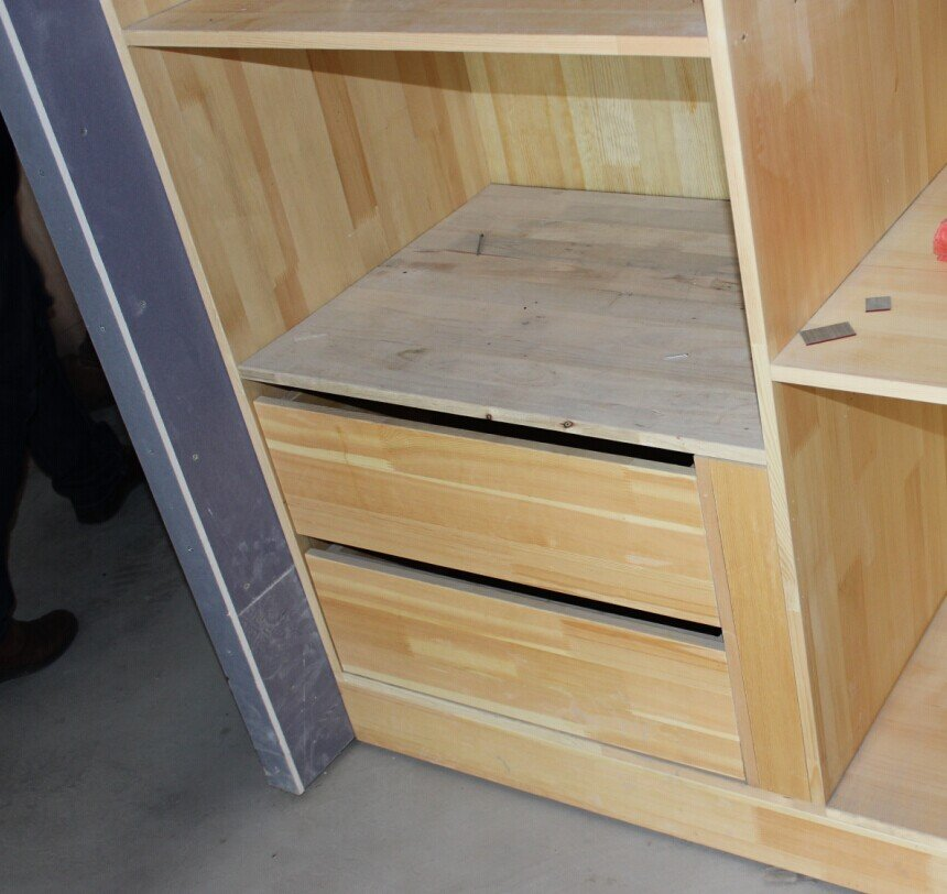 木工,做柜子细节展示