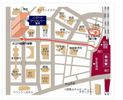 东京凯悦班车&步行地图.png