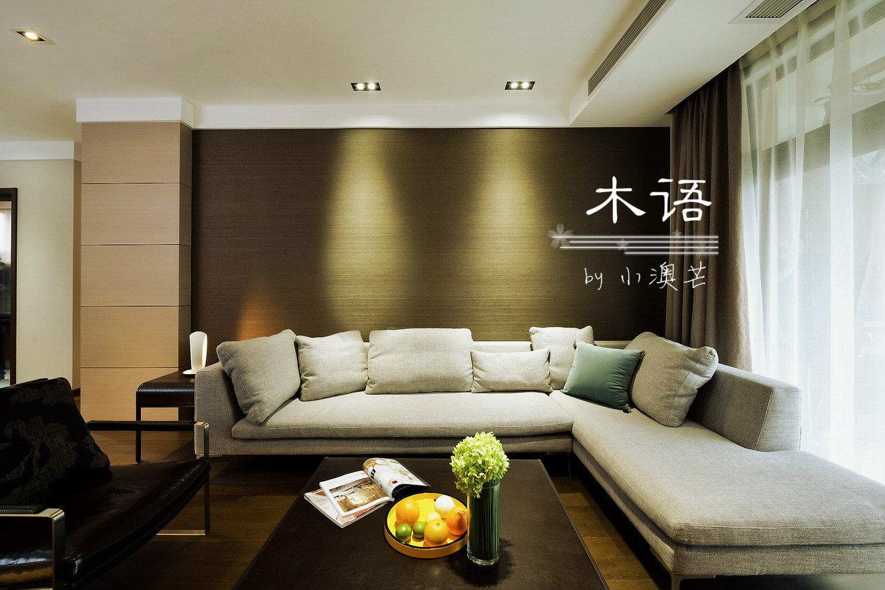 木语毕业照 100m2台湾现代简约混搭风 暗色系商务感